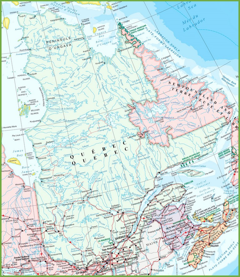 Bc Ski Resorts Map Best Of Detailed Map Of Quebec ï ¿