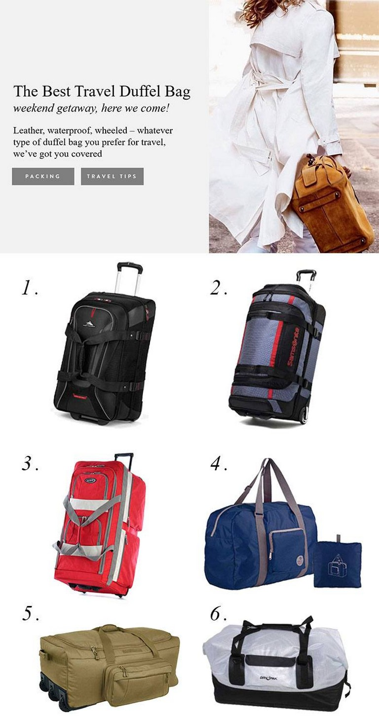 Best Rolling Duffel Bag For International Travel