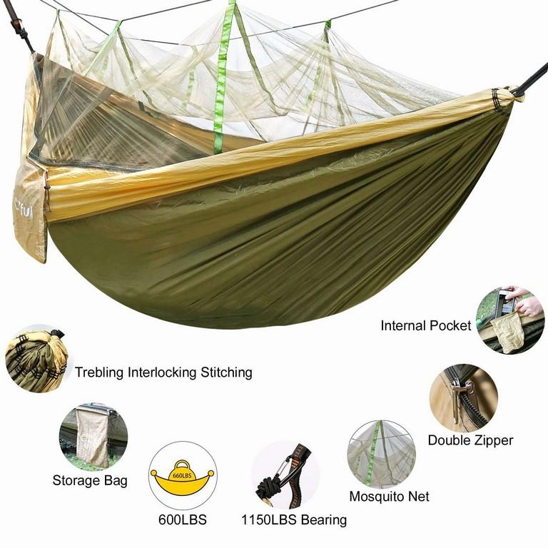 Hammock Spots Near Me Beautiful Double Camping Hammock With Mosquito Net Ezfull Lightweight