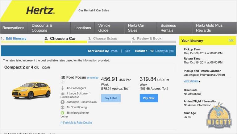Hertz Rental Car Receipt Inspirational Car Rental Quotes Pdf Format