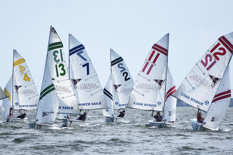 Day One Of Nationals Practice For The College Of Charleston Sailing Team