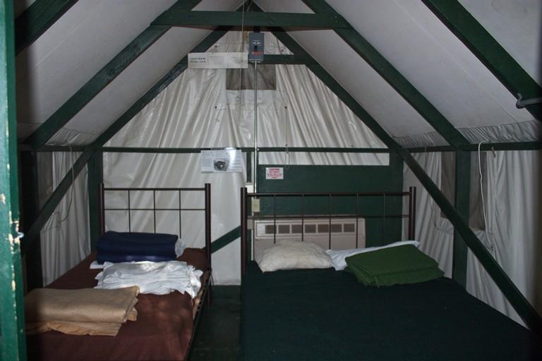 Unser Zelt (canvas Tent Cabin) Im Curry Village