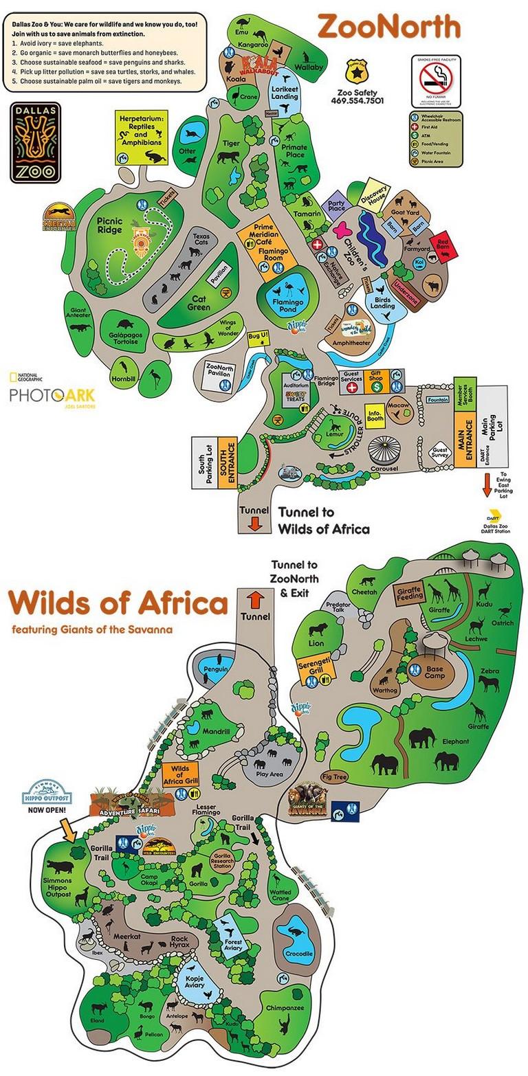 Dallas Zoo Map