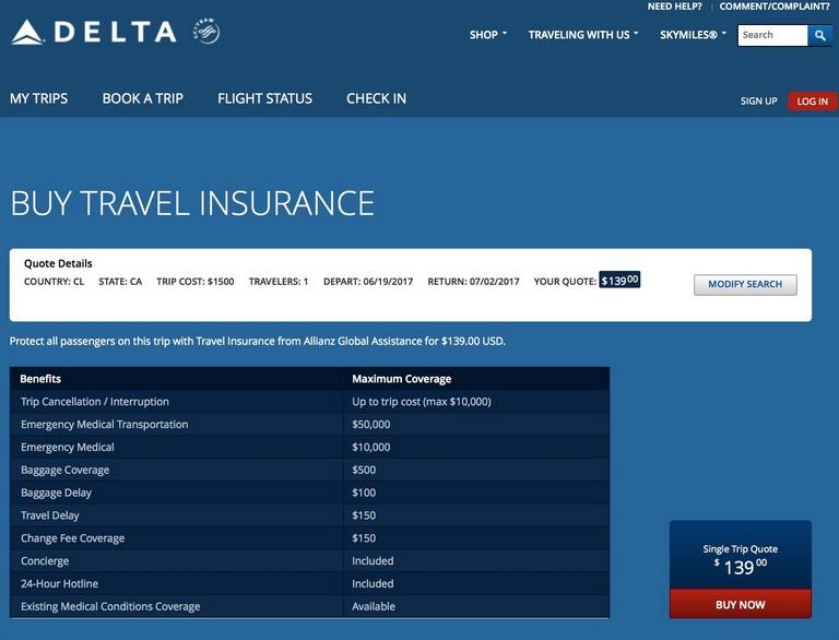 Delta Trip Insurance