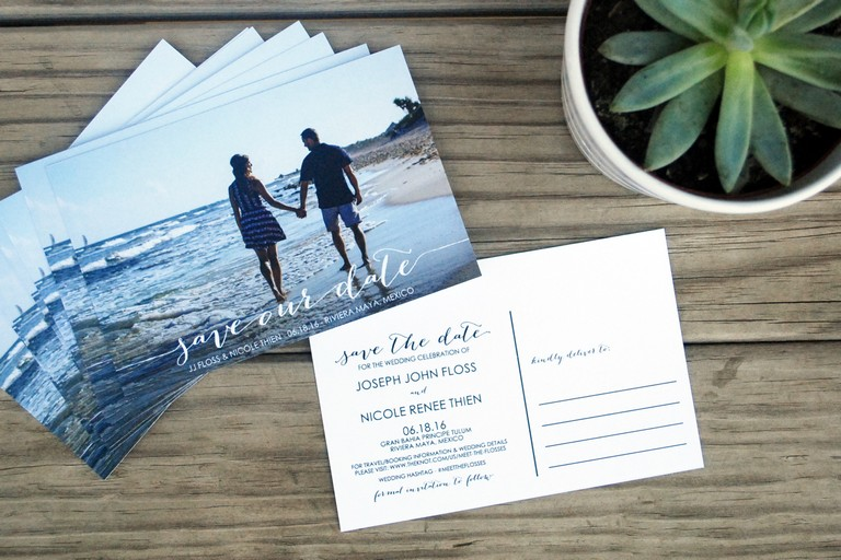 Destination Wedding Save The Date Cards