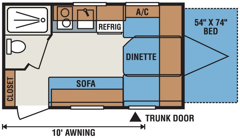 Escape Travel Trailer Floor Plans 2016 Spree Escape E14rbt Ultra Lightweight Travel Trailer