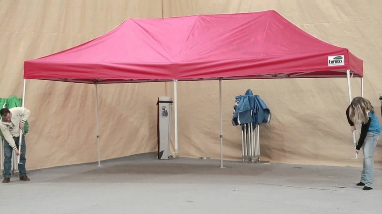 How To Setup Eurmax 10 X 20 Trade Show Canopy Youtube With Euromax Tent