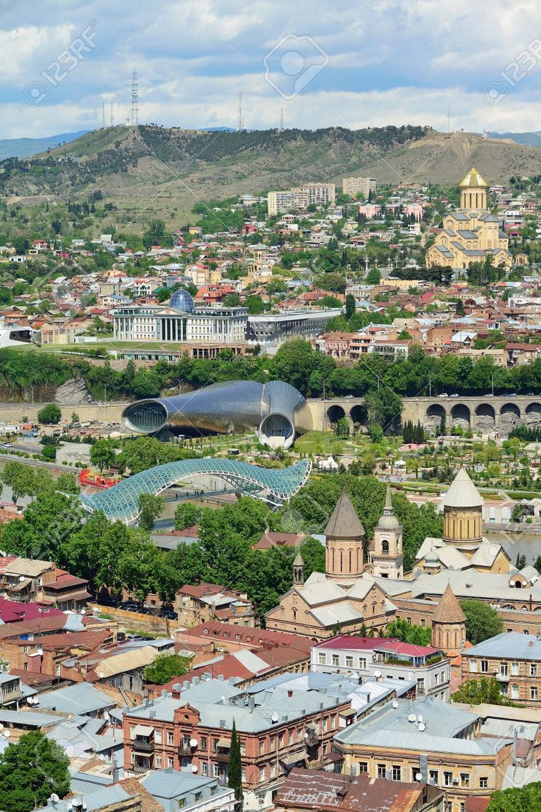 The Historic Center Of Tbilisi. Georgia Country. Tourism In The