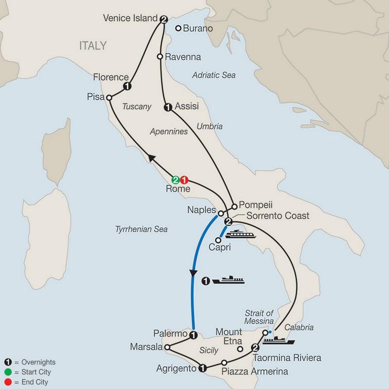 Globus Tours Italy