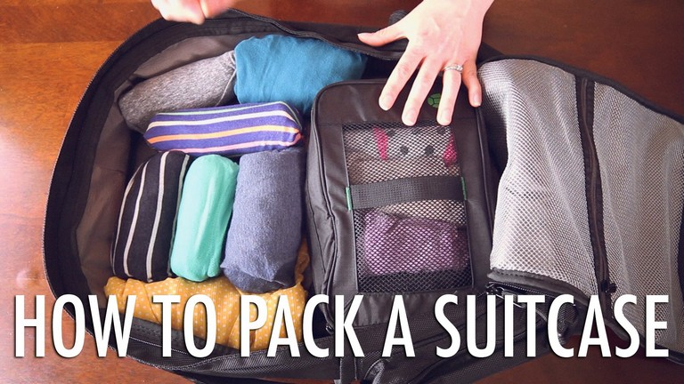 How To Pack A Suitcase Youtube