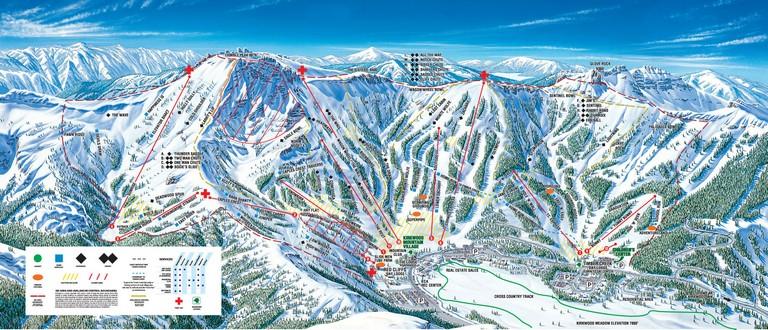 Lake Tahoe Ski Resorts Map