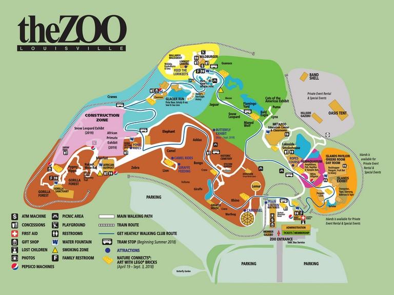 Louisville Zoo Map