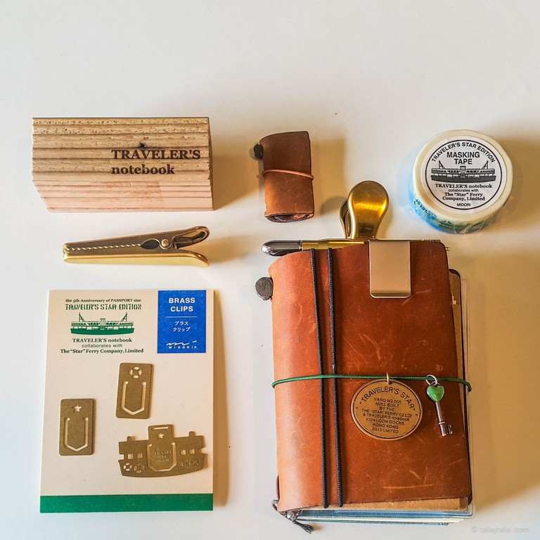 Midori Traveler's Notebook 5th Anniversary And Brass Clips