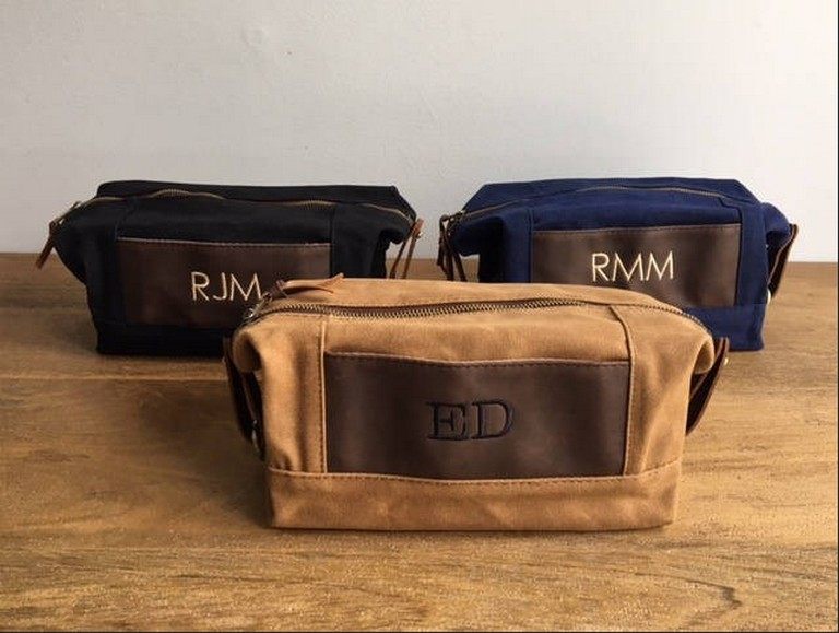 Monogrammed Mens Toiletry Bag