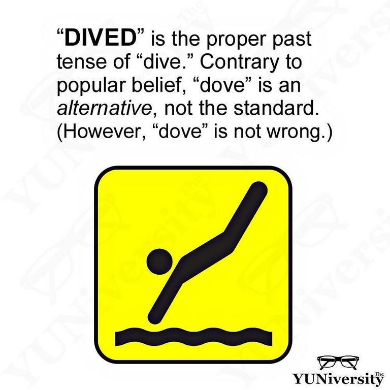 Past Tense Of Dive