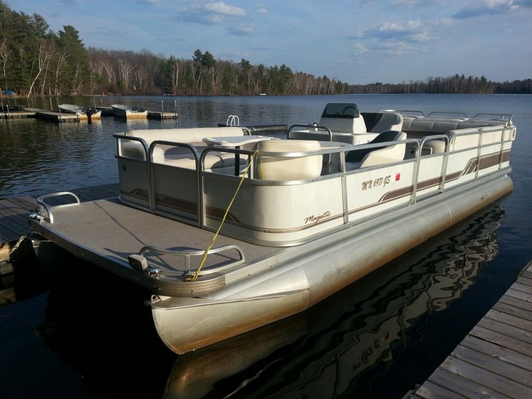 Pontoon Boat With Cabin