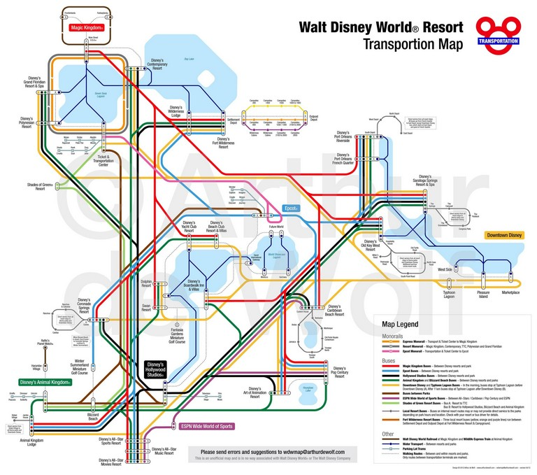 Transit Directions With Public Transportation Map How To Navigate With Disney World Transportation Within Bus Map And