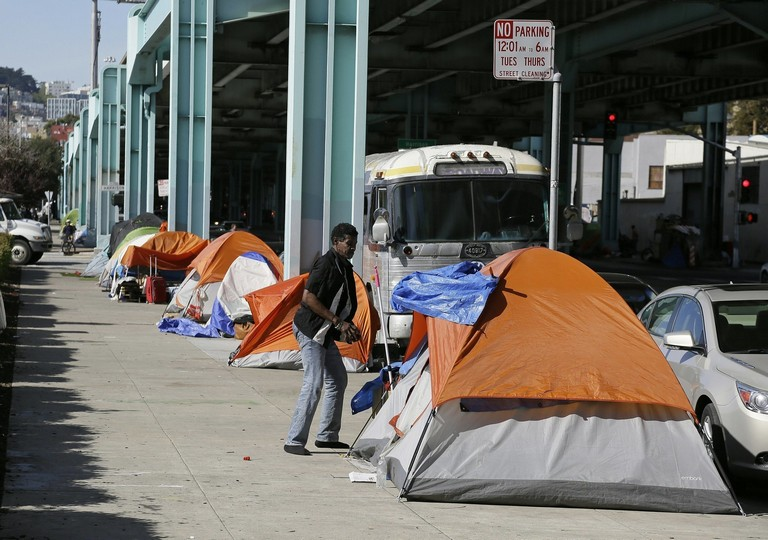 San Diego Homeless Tent City