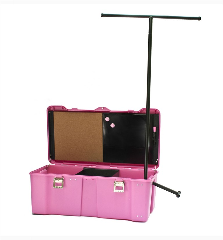 Suitcase With Garment Rack Inside