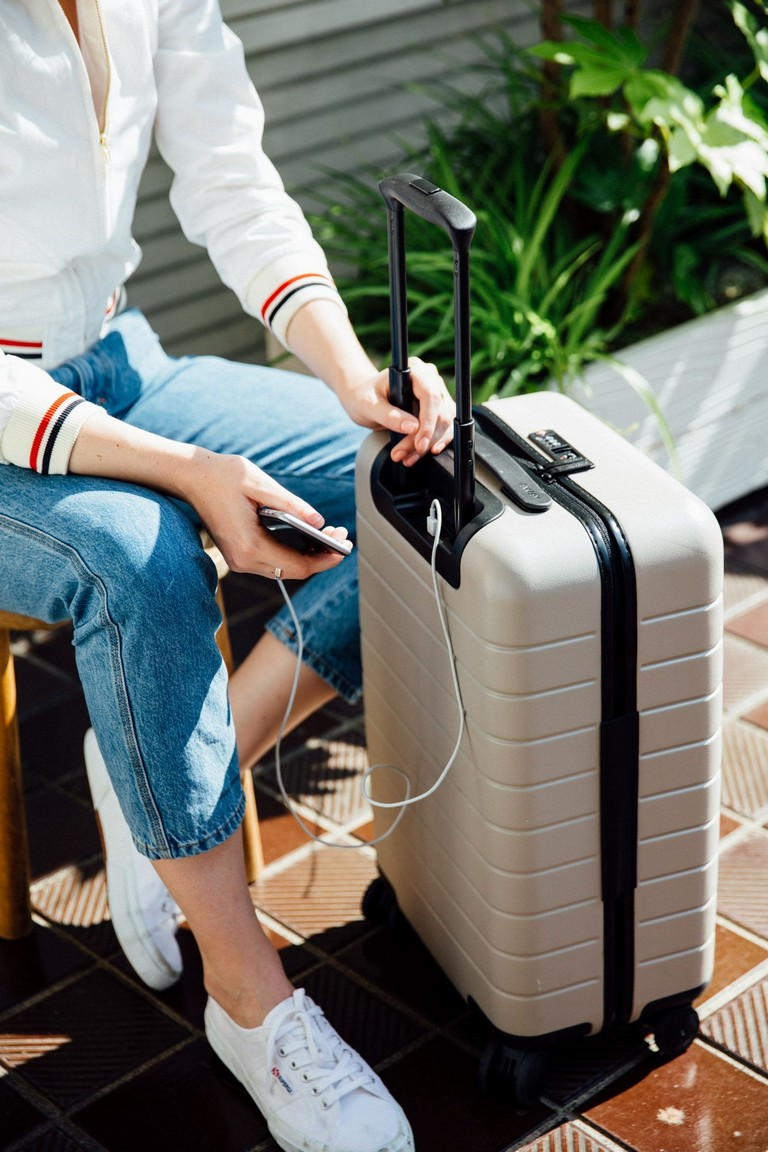 Suitcase With Phone Charger