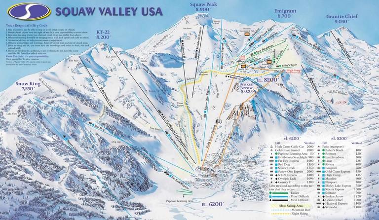 Tahoe Ski Resorts Map