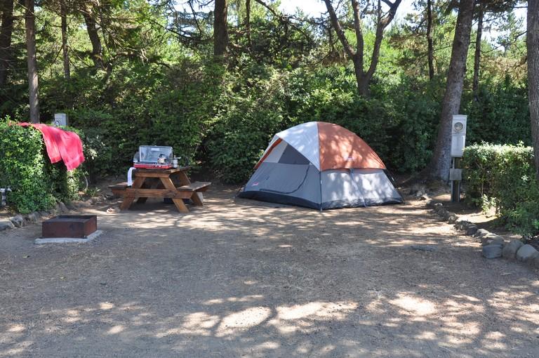 Tent Camping Newport Oregon