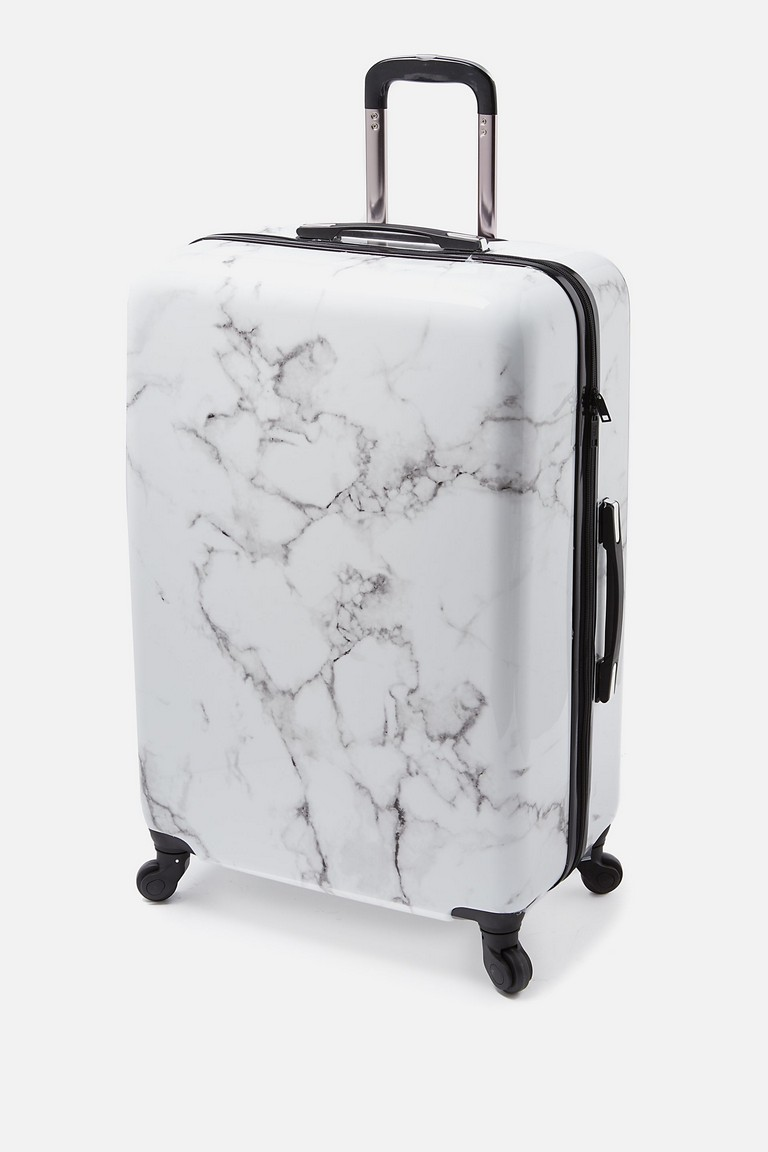 White Marble Suitcase