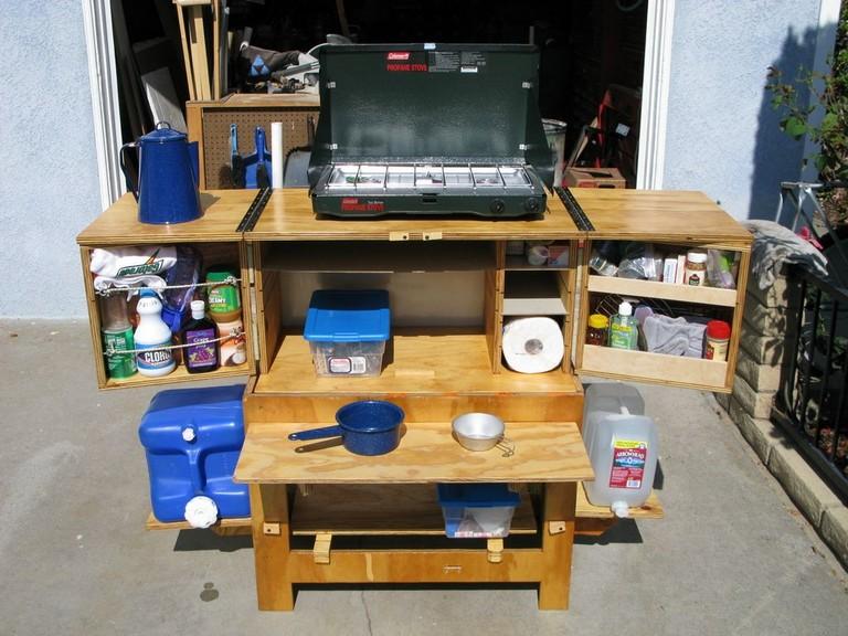 Diy Outdoor Kitchen Cart Lovely Chuck Box Camp Kitchen