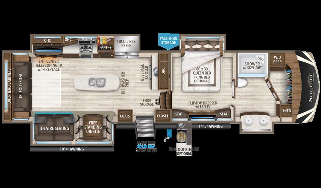 Rear Living Travel Trailer Floor Plans