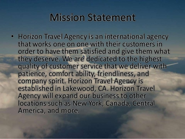 Travel Agency Mission Statement
