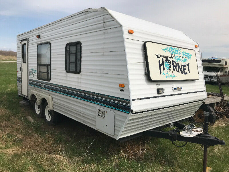 V Nose Travel Trailer