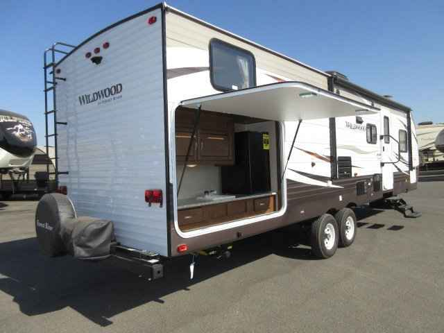 Travel Trailer With Outside Kitchen